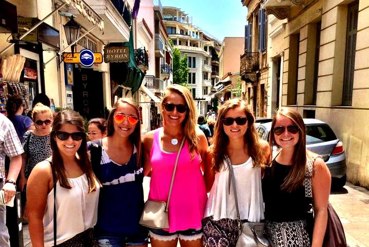 Exploring Athens with fellow students