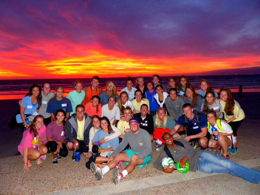 Sunset with the group