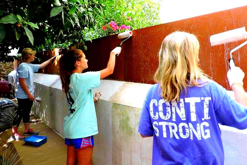 LEAD Greece students serve with the Salvation Army