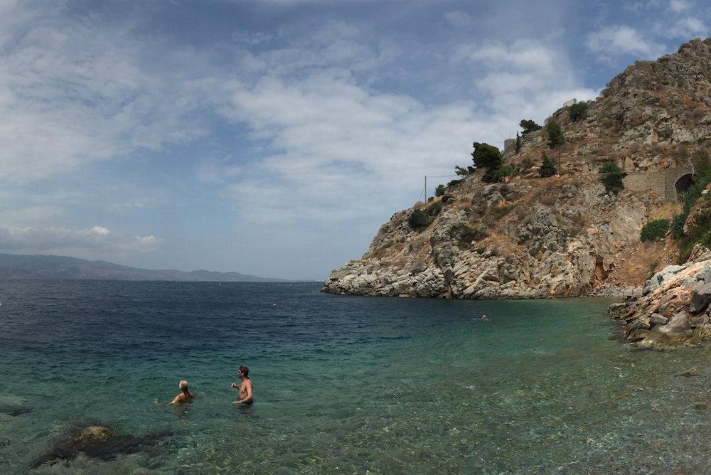Beautiful beach in Greece