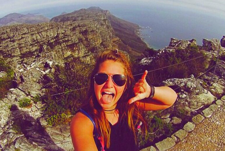 Julianna conquers Table Mountain