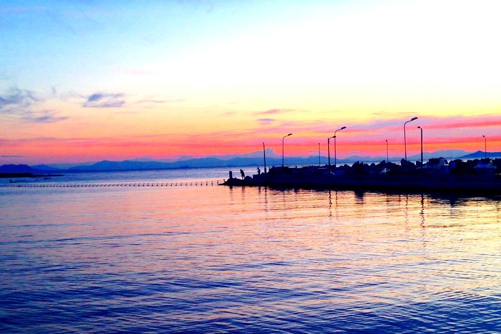 Beautiful sunset in Greece
