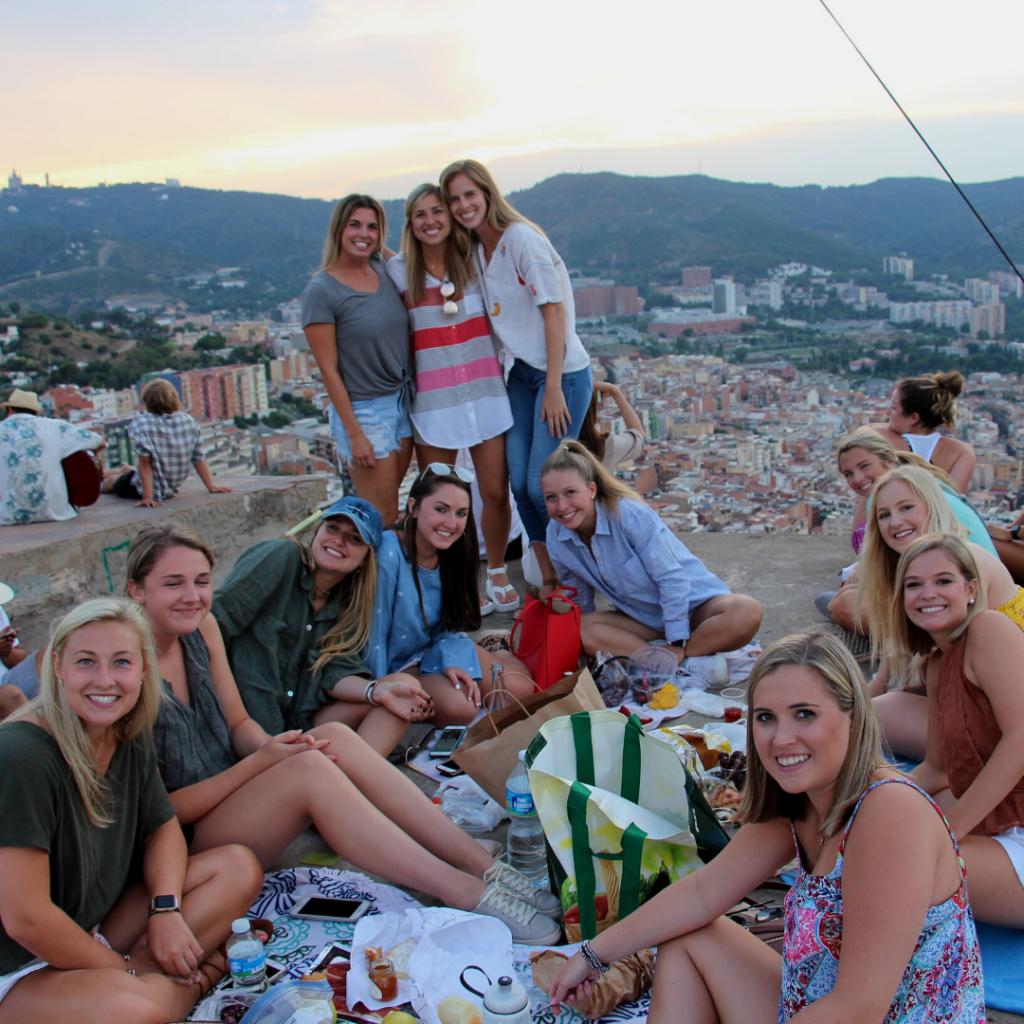 Sunset picnic in Barcelona